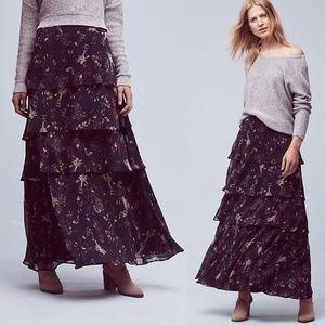 Anthropologie Maeve Botanica Maxi Skirt